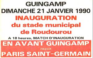 l'affiche du match de l'inauguration