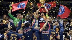 la joie des Parisiens après la victoire en finale face à Lyon