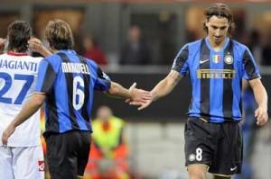 Maxwell et Ibra sous le maillot de l'Inter