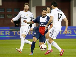 Premier match de l'année pour Lavezzi face au Real Madrid (0-1)