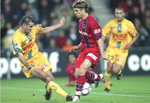 Rothen face à Nantes lors de la dernière défaite du PSG en 2004