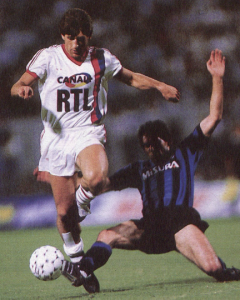 Susic face à l'Inter lors du Mundialito