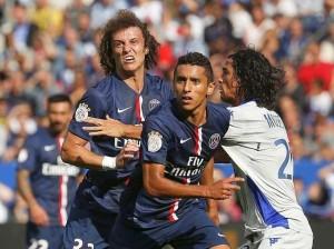les premiers pas parisiens de David Luiz face à Bastia