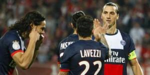Cavani, Pastore, Lavezzi et Ibrahimovic, les quatre meilleurs buteurs du PSG cette saison