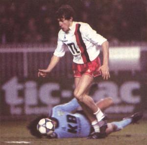 Luis Fernandez, buteur face aux Verts au Parc en 1983