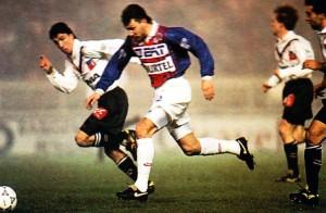 Xavier Gravelaine face à Angers en 1994