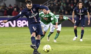 Zlatan Ibrahimovic fires home Paris St Germain