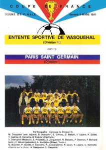 Wasquehal-PSG en 1990