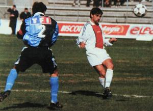 le 25 mars 1995, première demi-fnale pour le PSG et Colleter au Havre , avec une victoire 1-0 (but de Raï)
