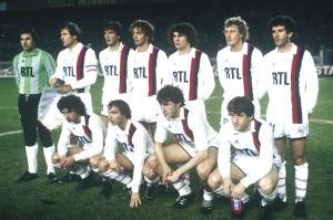le onze parisien contre Waterschei avec 5 joueurs issus du centre de formation (Guillochon, Bacconnier, Pilorget, Lemoult et Fernandez)