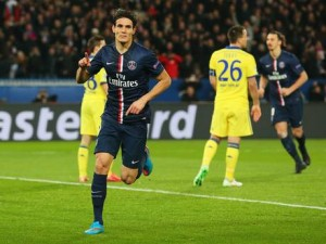 Cavani, buteur face aux Blues