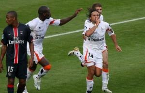 le doublé de Fiorèse au Parc en 2006 avec Lorient : une des pires soirées pour les supporters du PSG...