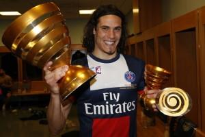 Cavani meilleur buteur du PSG en Coupe de la Ligue