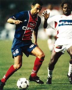 Djorkaeff impuissant face à Lille en 1996