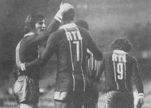 la joie des Parisiens lors de la saison 1981-1982
