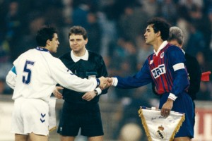 Ricardo, capitaine parisien face au Real Madrid en 1994