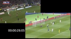 le ballon franchit la ligne au même moment... Ca c'est Paris !
