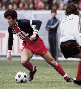 la première victoire avec 5 buts d'écart : face à Laval en 1977, avec capitaine Dahleb