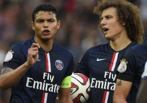Thiago Silva et David Luiz, capitaines à Paris... et avec la sélection du Brésil à la Coupe du monde 2014