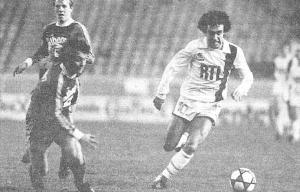 Rocheteau face aux Alsaciens en 1983