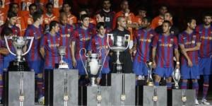 les trophées du Barca, mais sur une année civile, en 2009