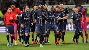 la joie des Parisiens après la victoire à Lyon