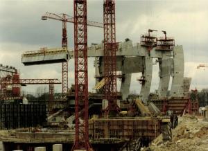 1971, le Parc en construction