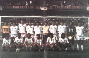 le groupe du PSG avant la rencontre