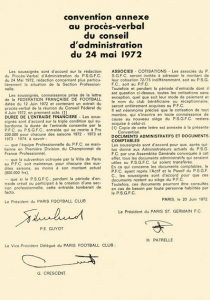 la convention annexe du 20 juin 1972
