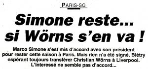 L'Équipe, le 6 août 1998