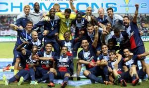 la joie du PSG après la victoire contre Bordeaux