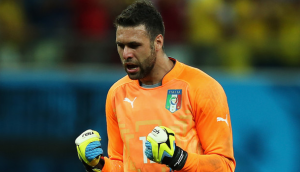 Doublure de Buffon avec l'équipe d'Italie