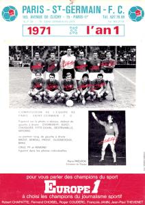 le premier calendrier à la gloire du PSG....