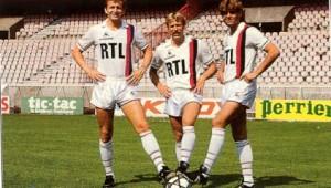 Jeannol, Lanthier, Niederbacher : le trio gagnant du PSG en début de saison 1984-1985