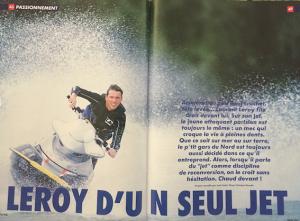 Jet ski pour Laurent Leroy