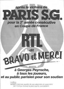 RTL fête la Coupe de France 1983 du PSG