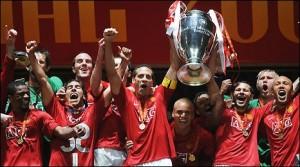 la dernière victoire de Manchester United en Ligue des champions, en 2008