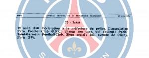 12 août 1970, une date cruciale pour la création du PSG