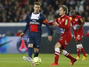 David Beckham pour ses adieux contre Brest