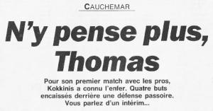 l'incroyable titre de l'Equipe après le cauchemar de Kokkinis à Montpellier