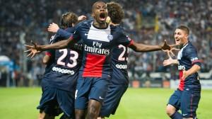 la joie de Matuidi après la victoire à Marseille en 2013