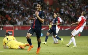Cavani, buteur du PSG face à Monaco