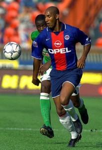 Nicolas Anelka face aux Verts en 2000 (victoire 5-1 du PSG)