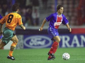 Daniel Bravo, buteur lors du premier PSG-Bayern