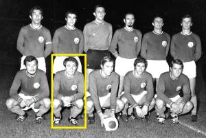 Lukic avec l'équipe du PSG contre Quevilly