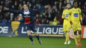 le 5-0 du PSG face à Nantes lors de la saison 2013-2014