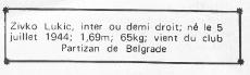 la fiche de Lukic dans le programme du PSG en 1970