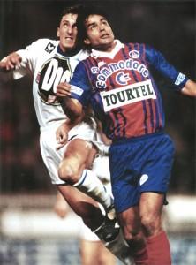 Rai et le PSG contre Auxerre en 1993