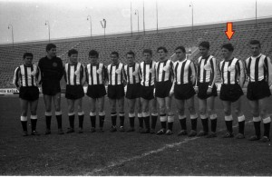 un dernier cliché du Partizan avec Lukic, en 1963