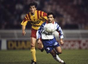 la défense du PSG et Colleter impériales en début de saison 1992-1993